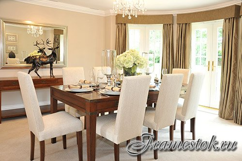 Luxurious dining rooms