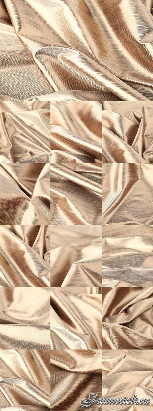 Golden-beige fabric texture bitmap
