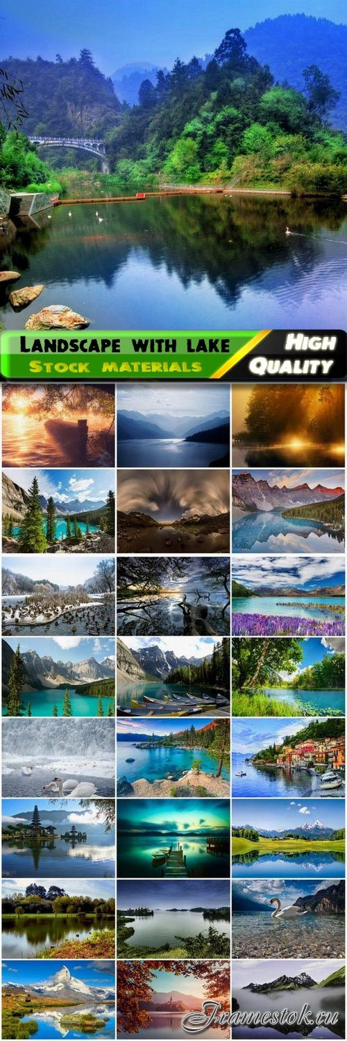Beautiful natural landscape with lake - 25 HQ Jpg