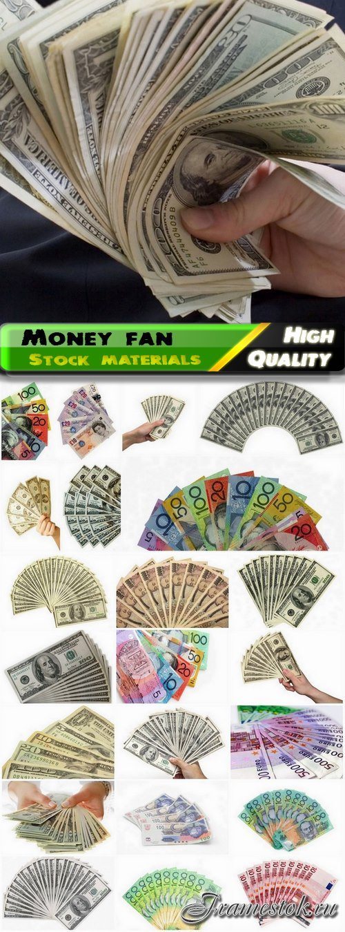 Business concept and world currency and money fan - 25 HQ Jpg