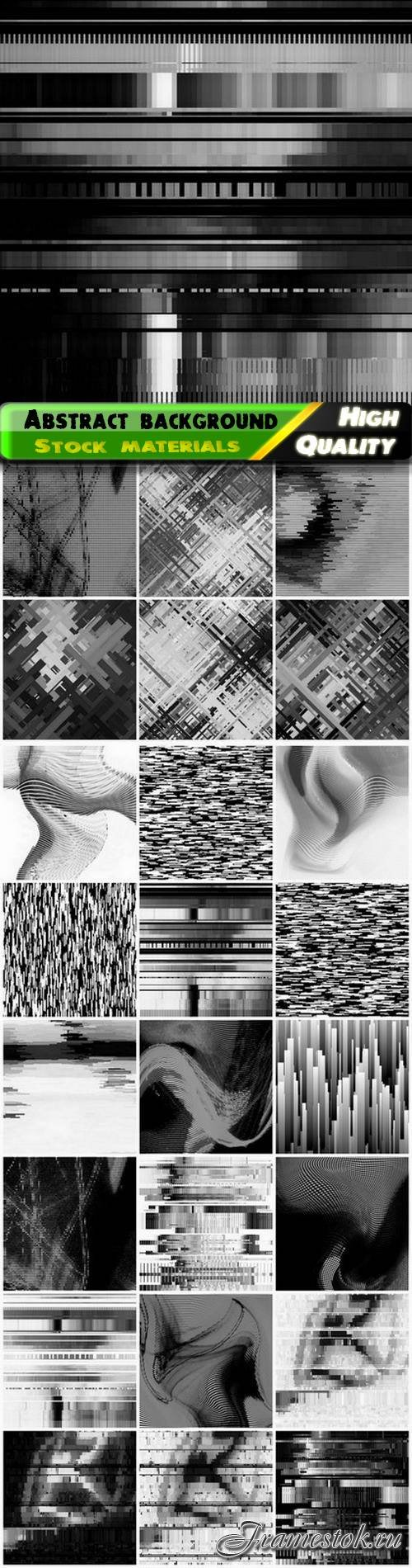 Creative abstract linear black and white background 25 Eps