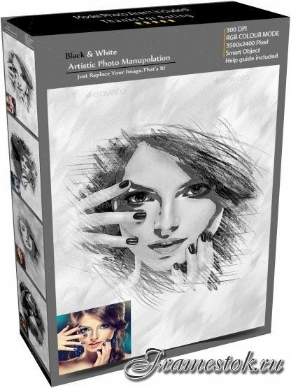 GraphicRiver - Black & White Artistic Photo Manuolation