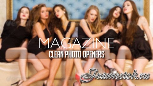 Magazine Photo Openers - Logo Reveal - Project for After Effects (Videohive)
