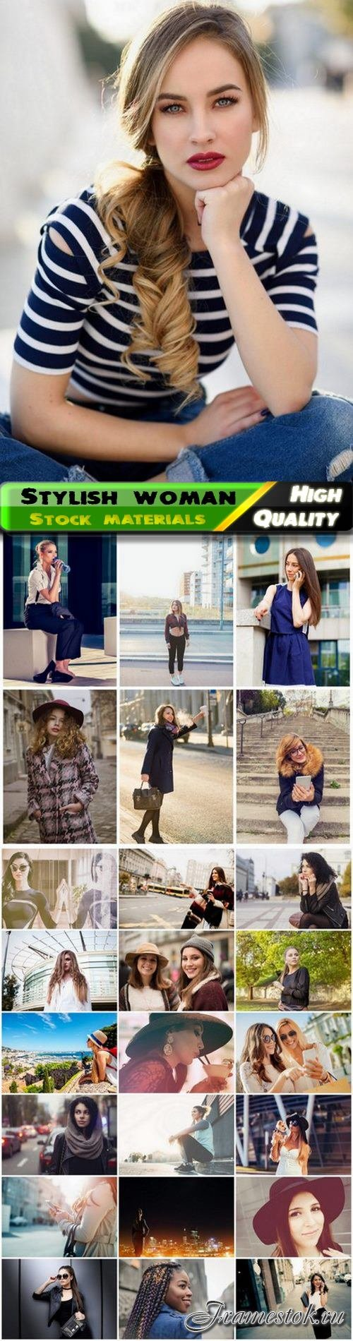 Stylish woman and urban fashion style girl in city 25 HQ Jpg