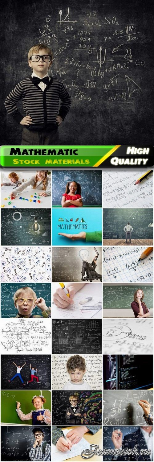 Mathematic education theme and algebra and geometry 25 HQ Jpg