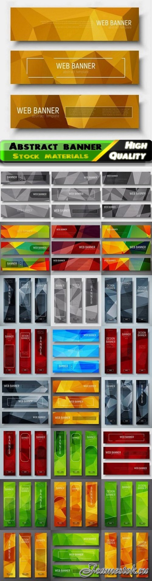 Abstract advertising banner and web header 25 Eps