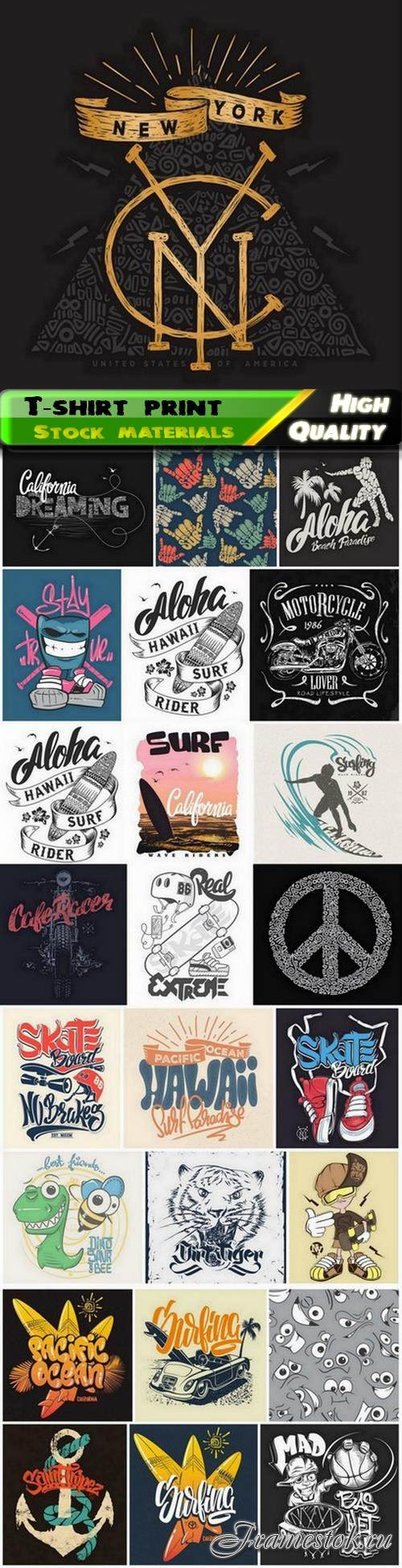 T-shirt print for clothes or fashion design creative art 15 25 Eps