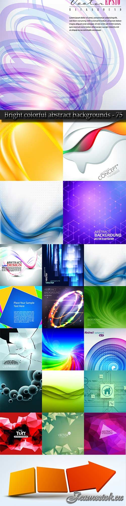Bright colorful abstract backgrounds vector - 75