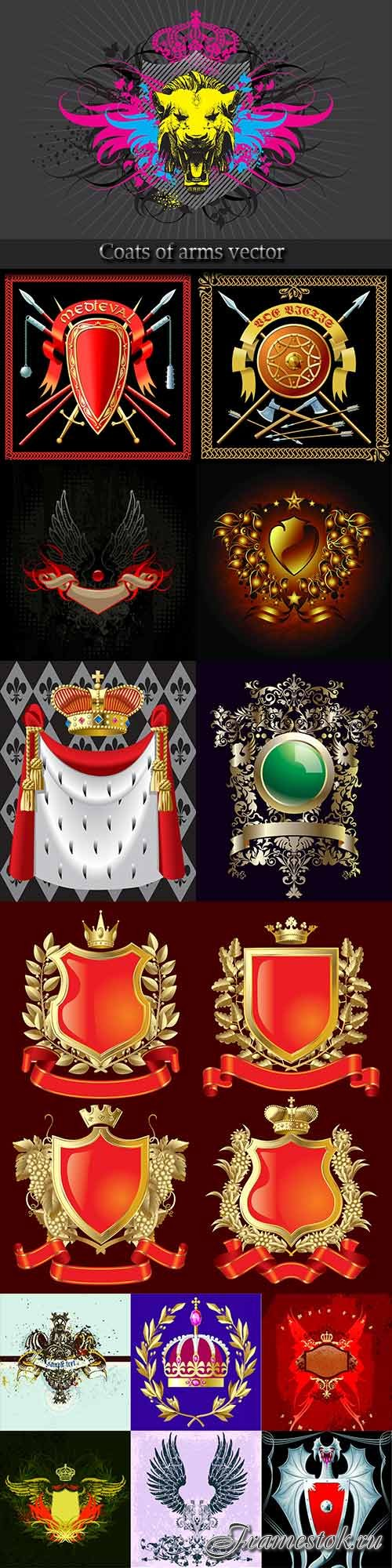 Coats of arms vector