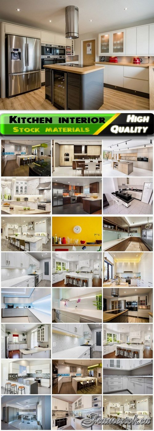 Creative modern home kitchen and place for cooking interior 2 25 Jpg