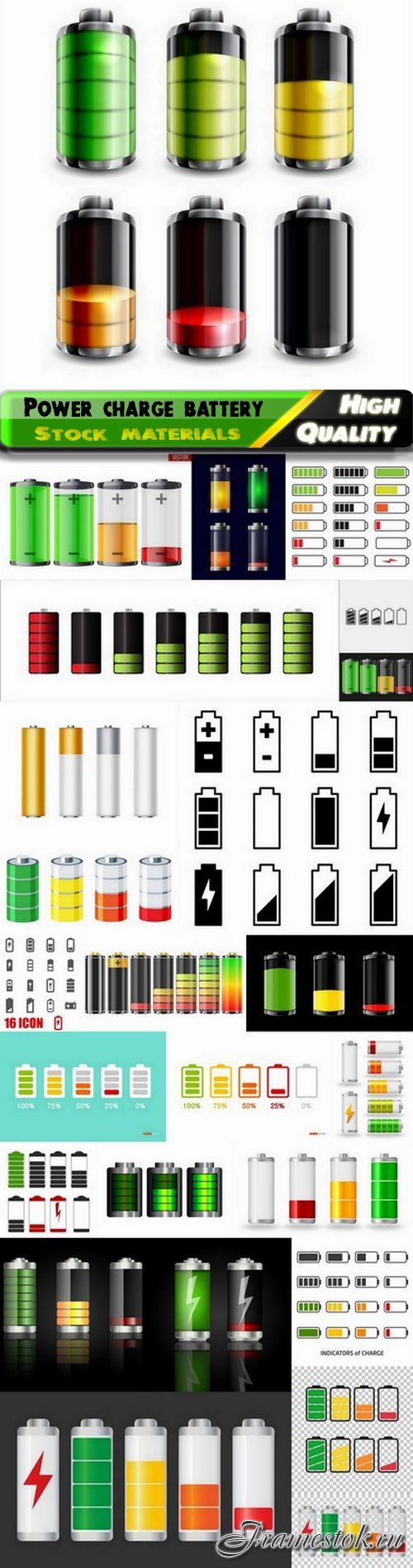 Power charge battery icon for application interface design 25 Eps