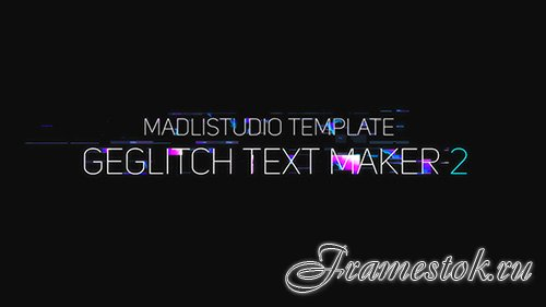 Ge Glitch Text Maker 2 - Project for After Effects (Videohive)