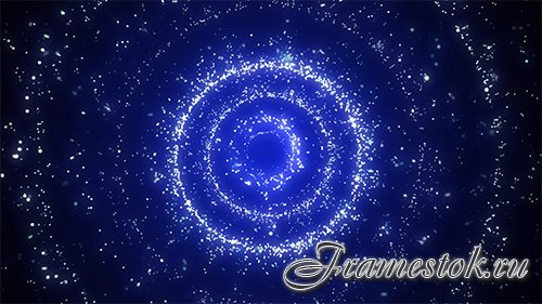 Spiral star blue tunnel HD