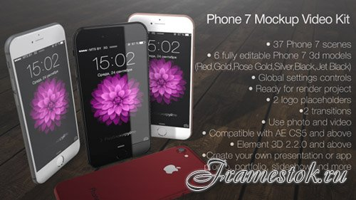 Phone 7 Mockup Video Kit - Project for After Effects (Videohive)