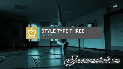 After Effects template - Kinetic Typography