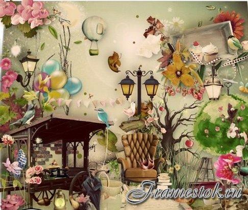 Скрап-набор - Волшебный сад