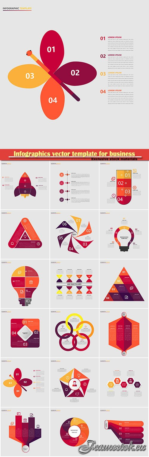 Infographics vector template for business presentations or information banner # 19