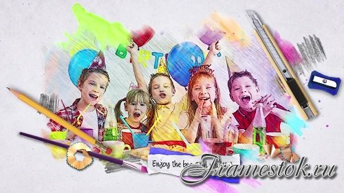 Watercolor Style Photos 93472 - After Effects Templates