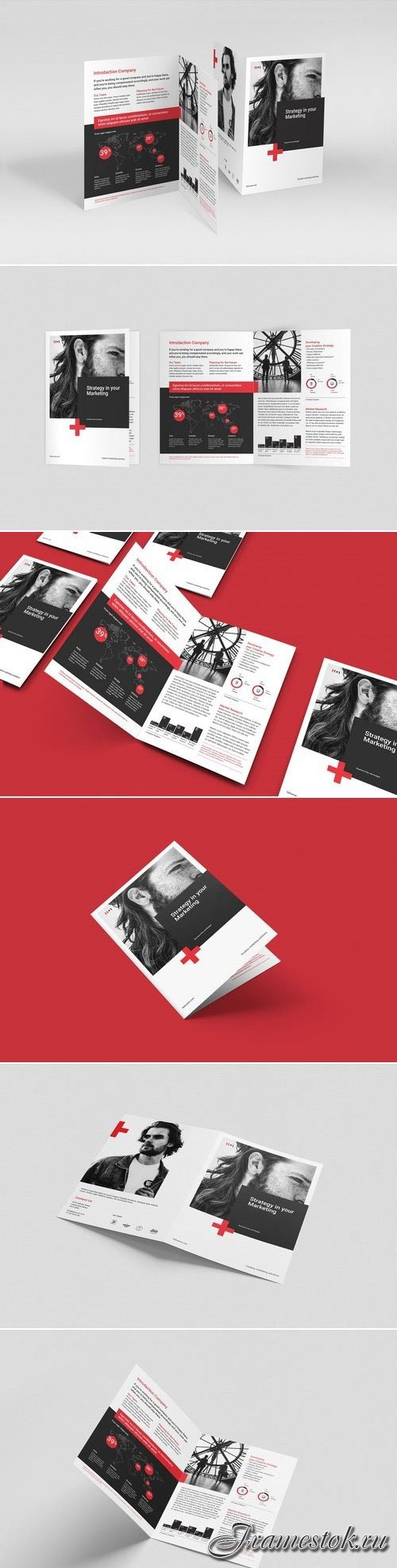 CreativeMarket Business Bifold Brochure 3020895