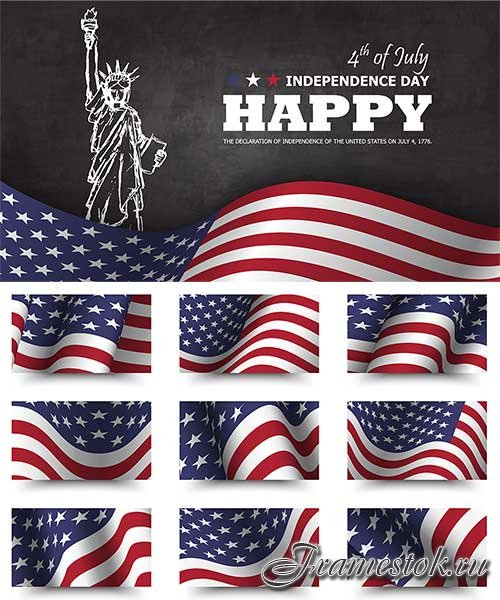 4th july independence day America - Vector Graphics