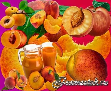 Прозрачные клипарты для фотошопа - Персики