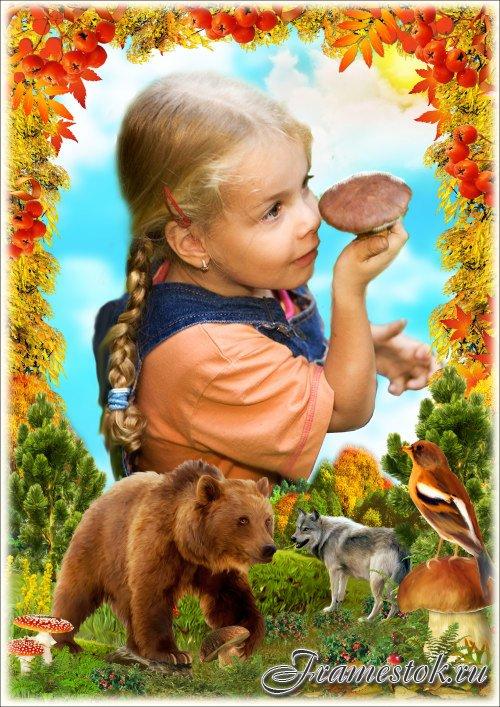 Рамка для Фотошопа - Заядлый грибник