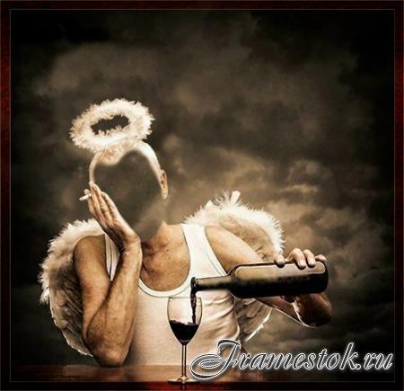 Фотошаблон для photoshop - Грешный ангел