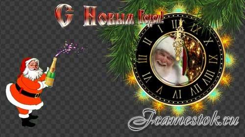 Футажи новогодние  -Дед Мороз там,где его совсем не ждешь