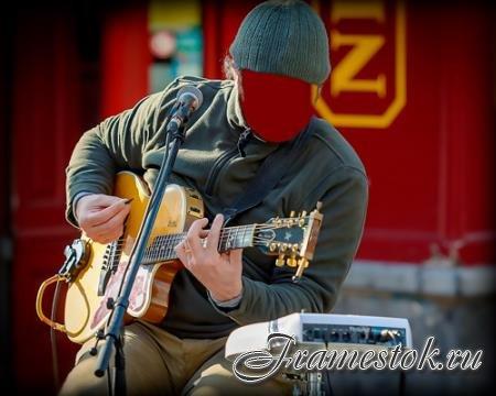 Шаблон psd - Уличный гитарист