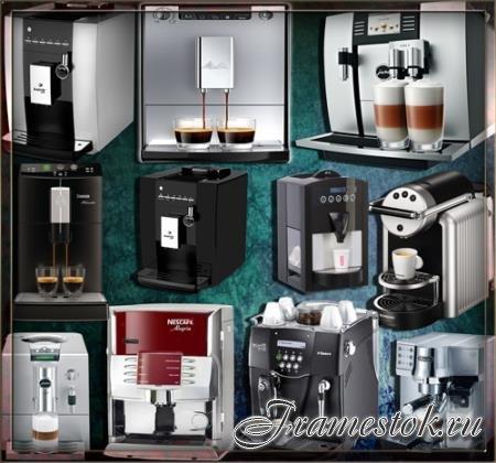 Растровые клипарты для фоторамок - Домашние кофейни