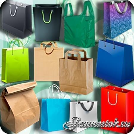 Png клипарты - Красочные сумки
