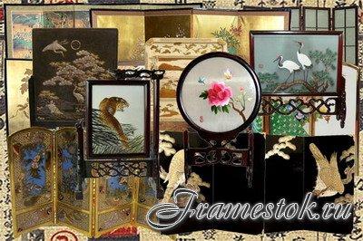 Клипарт Японские ширмы и экраны