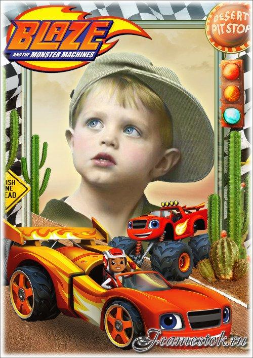 Детская рамка для фотошопа - Любимые сказочные герои мультфильмов 3