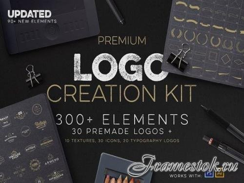 Premium Logo Creation Kit 300+ Elements Update 90+ New Elements