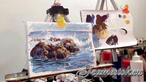 Морской пейзаж. Онлайн курс по живописи маслом (2020)