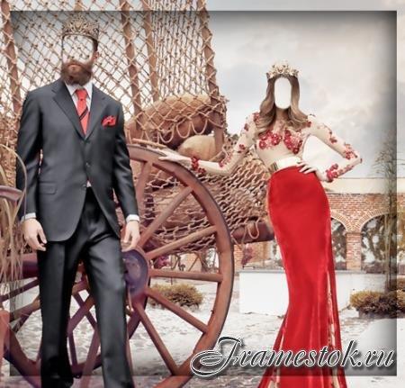 Фотошаблон для фотошопа - Королевская семья