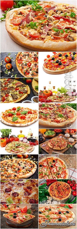 Mix pizza stock photo set