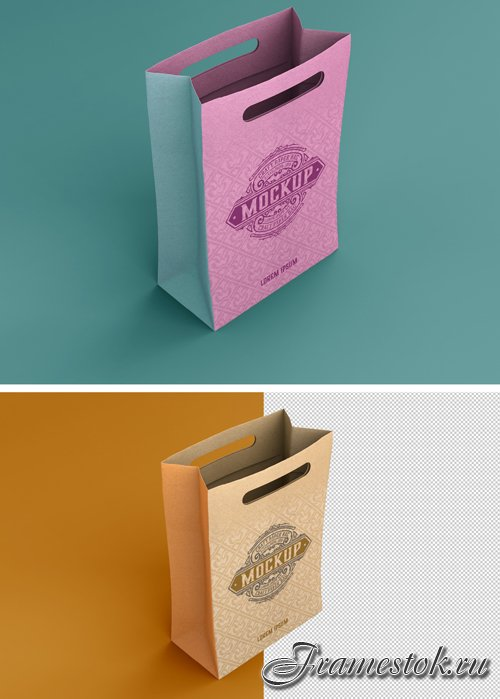 Kraft Shopping Bag Mockup