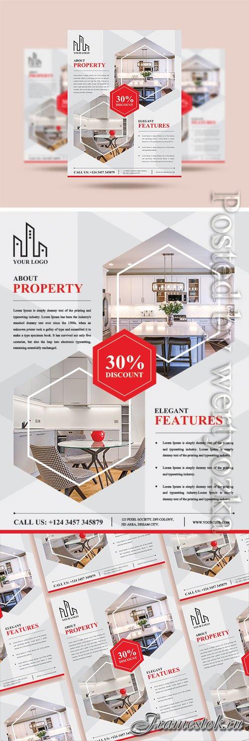 Real Estate Flyer Design Psd Template