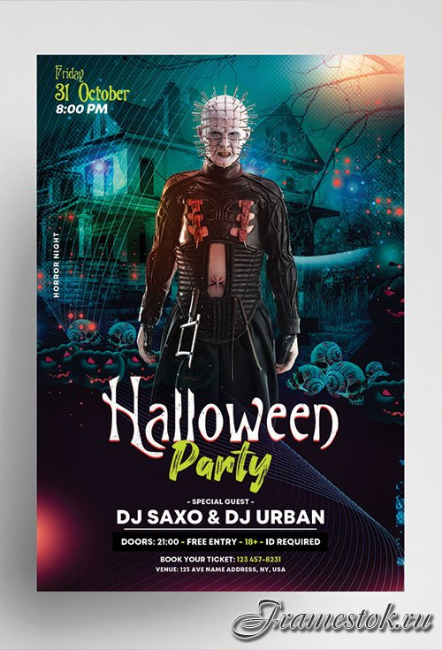Halloween party vol4 psd flyer