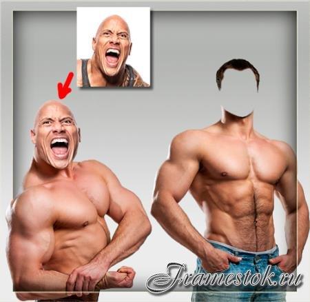 Мужской фотошаблон - Два спортсмена