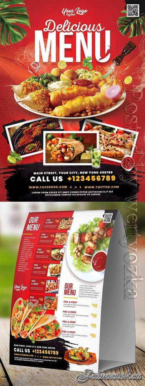 Restaurant food menu psd