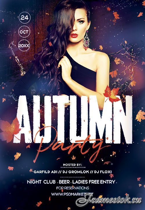 Autumn party - Premium flyer psd template