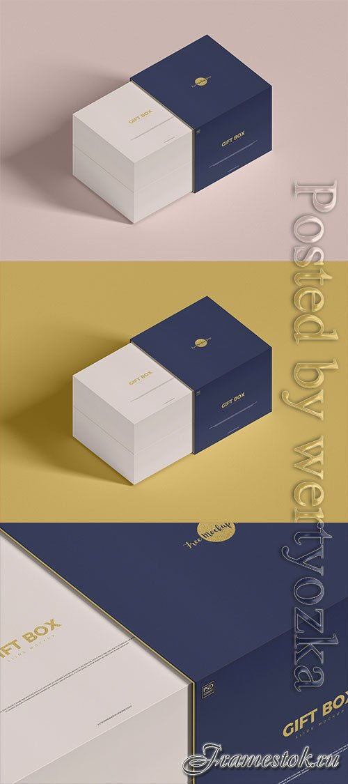 Slide Gift Box Mockup