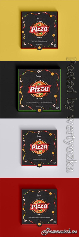 Packaging Pizza Box Mockup PSD