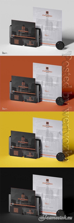 PSD Brand Stationery Mockup For Designers