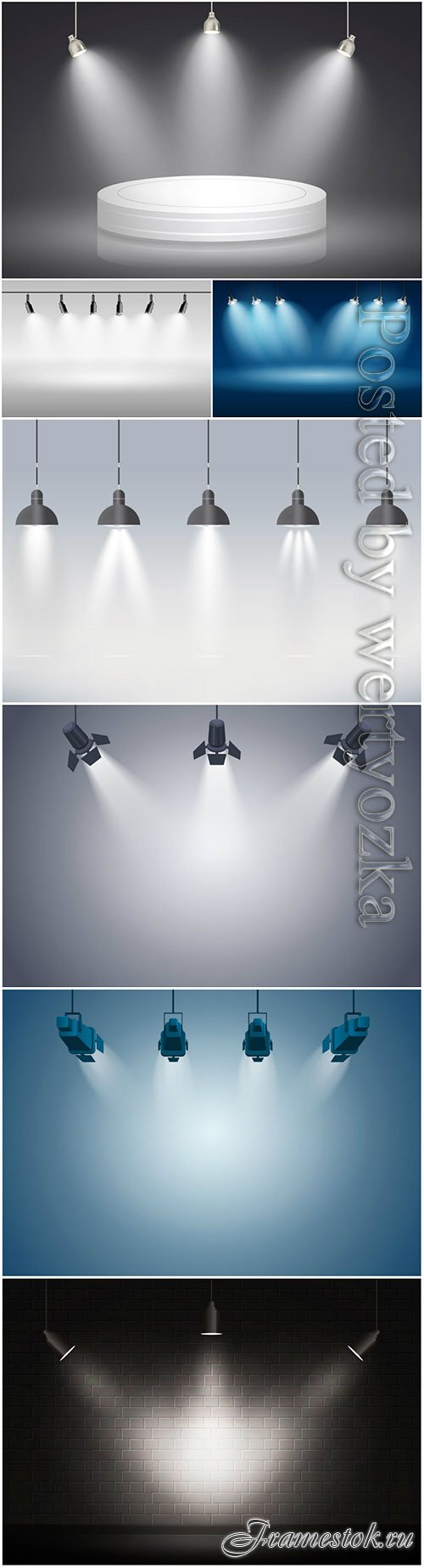 Spotlights vector background