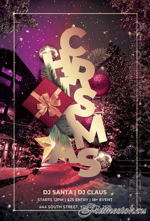 Christmas Celebration Flyer PSD Template