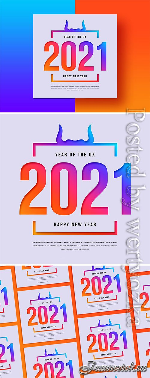 Happy New Year 2021 Banner Template
