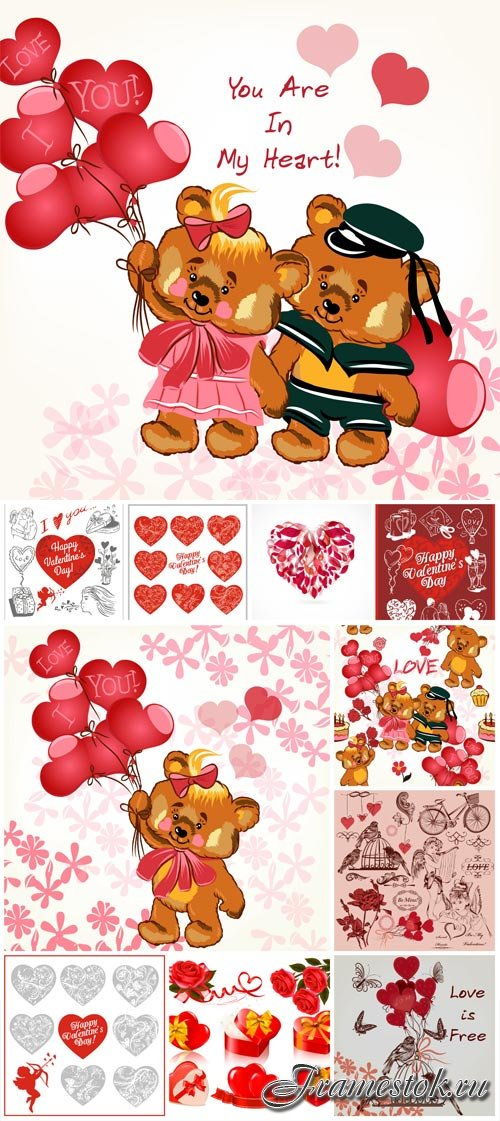 Romantic vector for valentine's day